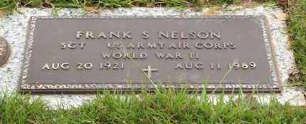 NELSON (VETERAN WWII), FRANK S - Saline County, Arkansas | FRANK S NELSON (VETERAN WWII) - Arkansas Gravestone Photos