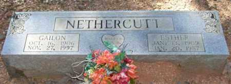 NETHERCUTT, ESTHER - Saline County, Arkansas | ESTHER NETHERCUTT - Arkansas Gravestone Photos