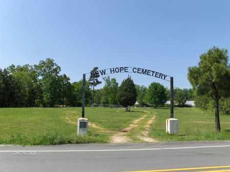 * NEW HOPE CEMETERY, ENTRANCE - Saline County, Arkansas   ENTRANCE * NEW HOPE CEMETERY - Arkansas Gravestone Photos