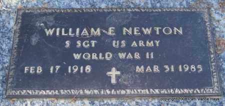 NEWTON (VETERAN WWII), WILLIAM E - Saline County, Arkansas   WILLIAM E NEWTON (VETERAN WWII) - Arkansas Gravestone Photos