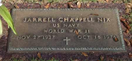 NIX (VETERAN WWII), JARRELL CHAPPELL - Saline County, Arkansas | JARRELL CHAPPELL NIX (VETERAN WWII) - Arkansas Gravestone Photos