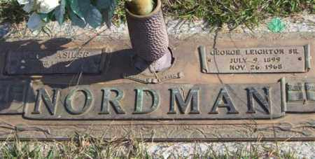 NORDMAN, SR., GEORGE LEIGHTON - Saline County, Arkansas | GEORGE LEIGHTON NORDMAN, SR. - Arkansas Gravestone Photos