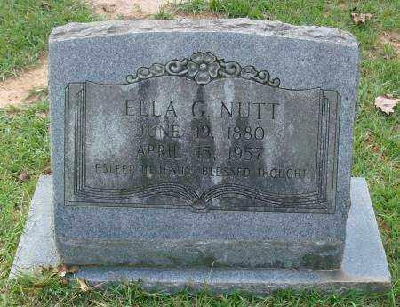 NUTT, ELLA G. - Saline County, Arkansas   ELLA G. NUTT - Arkansas Gravestone Photos