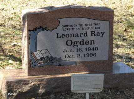 OGDEN, LEONARD RAY - Saline County, Arkansas | LEONARD RAY OGDEN - Arkansas Gravestone Photos