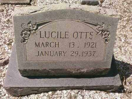 OTTS, LUCILE - Saline County, Arkansas | LUCILE OTTS - Arkansas Gravestone Photos