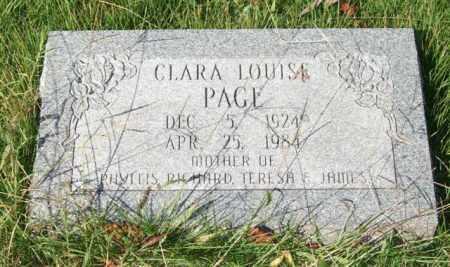 PAGE, CLARA LOUISE - Saline County, Arkansas | CLARA LOUISE PAGE - Arkansas Gravestone Photos