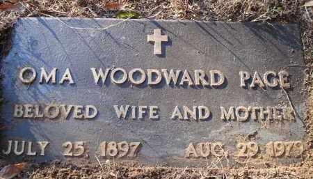 WOODWARD PAGE, OMA - Saline County, Arkansas   OMA WOODWARD PAGE - Arkansas Gravestone Photos