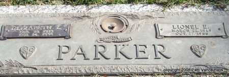 PARKER, LIONEL E. - Saline County, Arkansas | LIONEL E. PARKER - Arkansas Gravestone Photos