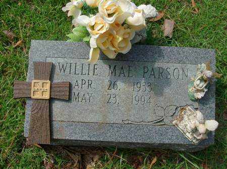 PARSONS, WILLIE - Saline County, Arkansas   WILLIE PARSONS - Arkansas Gravestone Photos