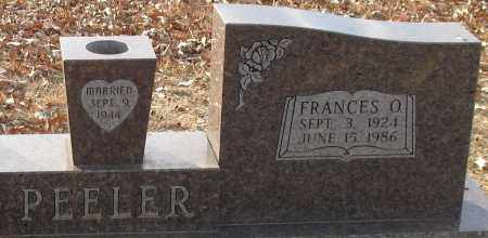 SHERIDAN PEELER, FRANCES OLIVIA (CLOSEUP) - Saline County, Arkansas | FRANCES OLIVIA (CLOSEUP) SHERIDAN PEELER - Arkansas Gravestone Photos
