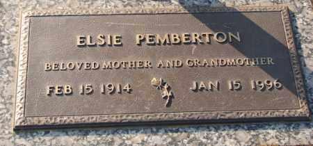 HOOD PEMBERTON, ELSIE - Saline County, Arkansas | ELSIE HOOD PEMBERTON - Arkansas Gravestone Photos