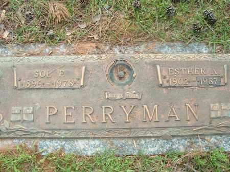 PERRYMAN, SOL F - Saline County, Arkansas | SOL F PERRYMAN - Arkansas Gravestone Photos