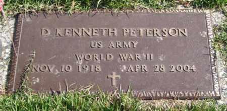 PETERSON (VETERAN WWII), D. KENNETH - Saline County, Arkansas | D. KENNETH PETERSON (VETERAN WWII) - Arkansas Gravestone Photos
