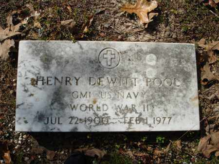 POOL (VETERAN WWII), HENRY DEWITT - Saline County, Arkansas | HENRY DEWITT POOL (VETERAN WWII) - Arkansas Gravestone Photos