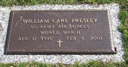 PRESLEY (VETERAN WWII), WILLIAM CARL - Saline County, Arkansas | WILLIAM CARL PRESLEY (VETERAN WWII) - Arkansas Gravestone Photos