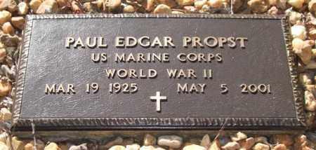 PROPST (VETERAN WWII), PAUL EDGAR - Saline County, Arkansas | PAUL EDGAR PROPST (VETERAN WWII) - Arkansas Gravestone Photos