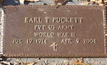 PUCKETT (VETERAN WWII), EARL T - Saline County, Arkansas   EARL T PUCKETT (VETERAN WWII) - Arkansas Gravestone Photos