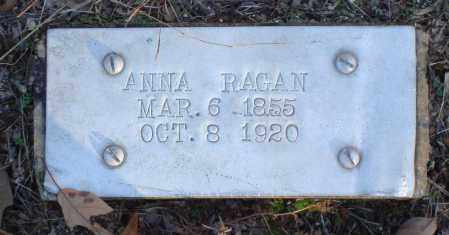 RAGAN, ANNA - Saline County, Arkansas | ANNA RAGAN - Arkansas Gravestone Photos