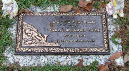 RAMBO, MATTHEW BRIAN - Saline County, Arkansas   MATTHEW BRIAN RAMBO - Arkansas Gravestone Photos