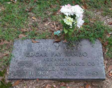 RAMBO (VETERAN WWII), EDGAR FAY - Saline County, Arkansas | EDGAR FAY RAMBO (VETERAN WWII) - Arkansas Gravestone Photos