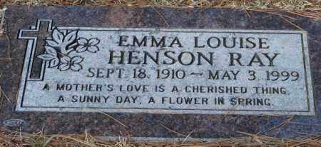 RAY, EMMA LOUISE - Saline County, Arkansas | EMMA LOUISE RAY - Arkansas Gravestone Photos