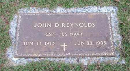 REYNOLDS (VETERAN), JOHN D - Saline County, Arkansas   JOHN D REYNOLDS (VETERAN) - Arkansas Gravestone Photos