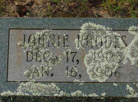 RHODES, JOHNIE - Saline County, Arkansas | JOHNIE RHODES - Arkansas Gravestone Photos