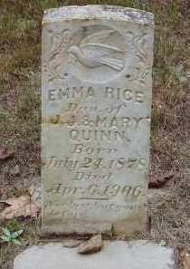 "RICE, EMELINE ""EMMA"" - Saline County, Arkansas | EMELINE ""EMMA"" RICE - Arkansas Gravestone Photos"