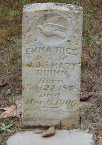 "QUINN RICE, EMELINE ""EMMA"" - Saline County, Arkansas | EMELINE ""EMMA"" QUINN RICE - Arkansas Gravestone Photos"