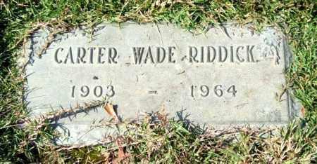 RIDDICK, CARTER WADE - Saline County, Arkansas   CARTER WADE RIDDICK - Arkansas Gravestone Photos