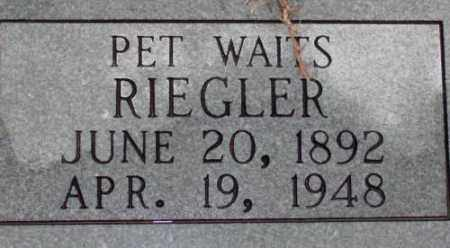 RIEGLER, PET - Saline County, Arkansas | PET RIEGLER - Arkansas Gravestone Photos