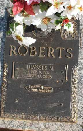 ROBERTS, ULYSSES M. - Saline County, Arkansas   ULYSSES M. ROBERTS - Arkansas Gravestone Photos