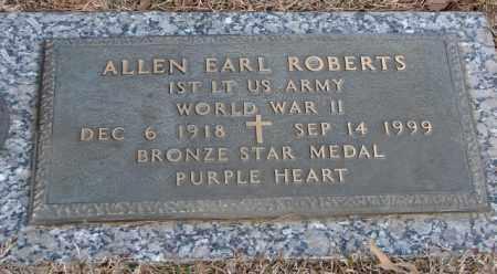 ROBERTS (VETERAN WWII), ALLEN EARL - Saline County, Arkansas | ALLEN EARL ROBERTS (VETERAN WWII) - Arkansas Gravestone Photos