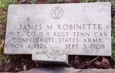 ROBINETTE (VETERAN CSA), JAMES MOSES - Saline County, Arkansas | JAMES MOSES ROBINETTE (VETERAN CSA) - Arkansas Gravestone Photos