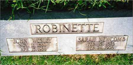 ROBINETTE, SARAH - Saline County, Arkansas | SARAH ROBINETTE - Arkansas Gravestone Photos