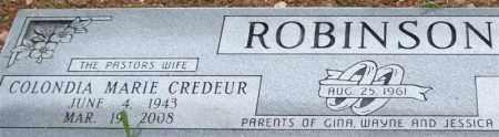 CREDEUR ROBINSON, COLONDIA MARIE (CLOSEUP) - Saline County, Arkansas | COLONDIA MARIE (CLOSEUP) CREDEUR ROBINSON - Arkansas Gravestone Photos