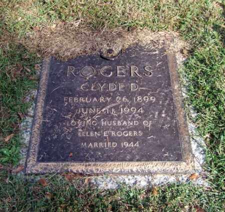 ROGERS, CLYDE D. - Saline County, Arkansas   CLYDE D. ROGERS - Arkansas Gravestone Photos