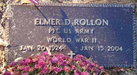 ROLLON (VETERAN WWII), ELMER D - Saline County, Arkansas | ELMER D ROLLON (VETERAN WWII) - Arkansas Gravestone Photos