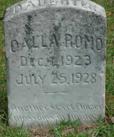 ROMO, OALLA - Saline County, Arkansas | OALLA ROMO - Arkansas Gravestone Photos