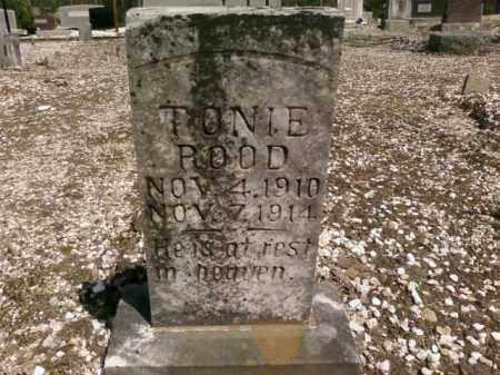 ROOD, TONIE - Saline County, Arkansas   TONIE ROOD - Arkansas Gravestone Photos