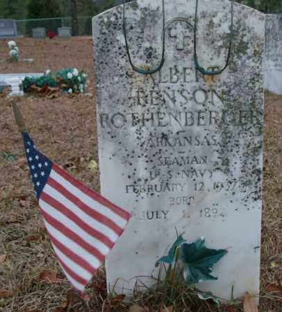 ROTHENBERGER (VETERAN), ALBERT BENSON - Saline County, Arkansas | ALBERT BENSON ROTHENBERGER (VETERAN) - Arkansas Gravestone Photos