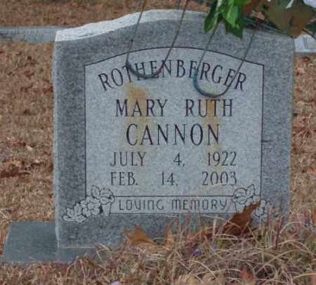 CANNON ROTHENBERGER, MARY RUTH - Saline County, Arkansas | MARY RUTH CANNON ROTHENBERGER - Arkansas Gravestone Photos
