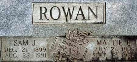 ROWAN, MATTIE E. (CLOSEUP) - Saline County, Arkansas | MATTIE E. (CLOSEUP) ROWAN - Arkansas Gravestone Photos