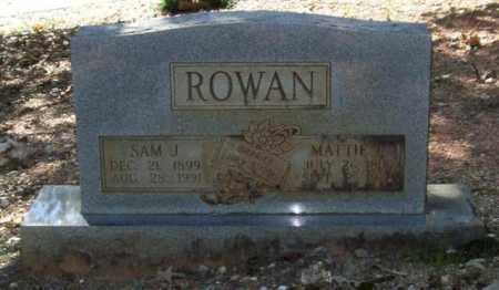 ROWAN, MATTIE E. - Saline County, Arkansas | MATTIE E. ROWAN - Arkansas Gravestone Photos