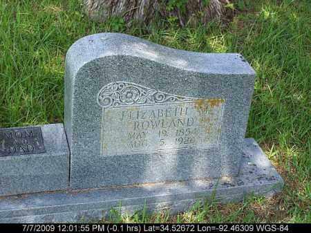ROWLAND, ELIZABETH M. - Saline County, Arkansas   ELIZABETH M. ROWLAND - Arkansas Gravestone Photos