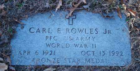 ROWLES, JR (VETERAN WWII), CARL E - Saline County, Arkansas   CARL E ROWLES, JR (VETERAN WWII) - Arkansas Gravestone Photos