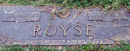 ROYSE, BERNICE W. - Saline County, Arkansas | BERNICE W. ROYSE - Arkansas Gravestone Photos