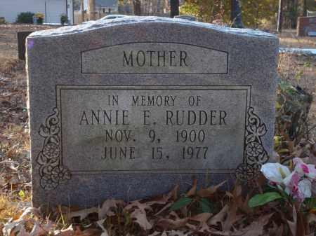 RUDDER, ANNIE E - Saline County, Arkansas | ANNIE E RUDDER - Arkansas Gravestone Photos
