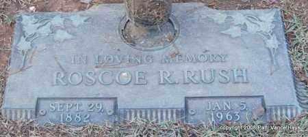 RUSH, ROSCOE R. - Saline County, Arkansas   ROSCOE R. RUSH - Arkansas Gravestone Photos