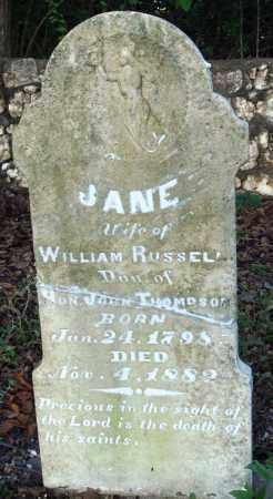 RUSSELL, JANE - Saline County, Arkansas   JANE RUSSELL - Arkansas Gravestone Photos